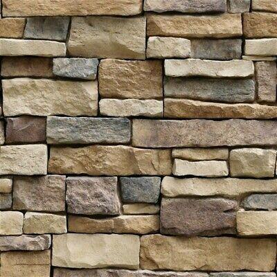 Advertisement 10mx45cm Stone Brick 3d Effect Wallpaper Rock Realistic Pvc Self Adhesive Decor In 2020 Brick Wallpaper Sticker Brick Wallpaper Wall Vinyl Decor