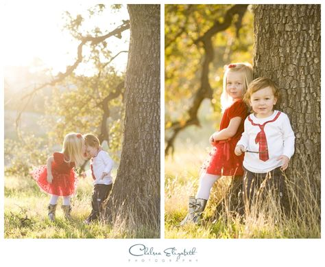 Holiday Christmas Portraits | Sibling Photo Ideas | Rustic Outdoor Pictures | BY: Chelsea Elizabeth | www.chelseaelizabeth.com