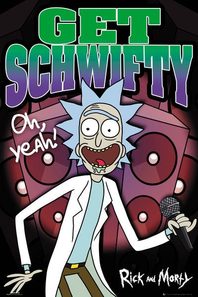 rick and morty tv show poster print