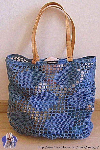 f558b57218b9 Интересные сумочки в филейной технике 0 | сумки, сумочки ...