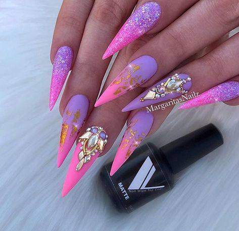 30 The SexAppeal Stiletto Nails Art Designs For You - Nail Art Connect