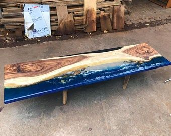 Giant Coffee Table Epoxy Table River Table Ocean Table Handmade