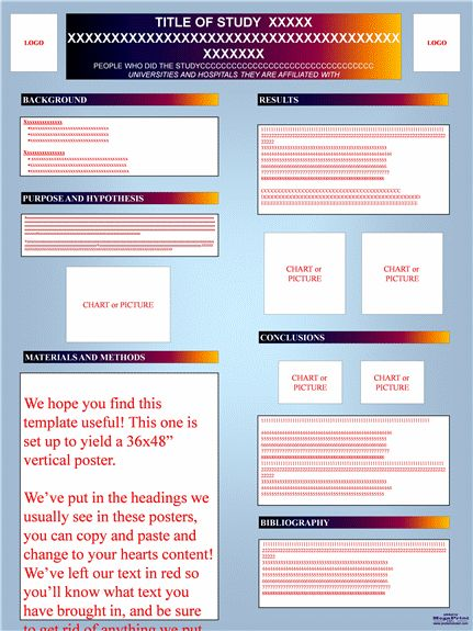 Research Poster Templates  Flyers Templates Scientific Medical