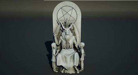 The Satanic Temple wants to erect a 7-foot-tall statue of a seated Satan flanked by two children on the grounds of the Oklahoma state Capitol.
