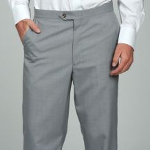 @Overstock - As the name suggests, these Sansabelt trousers feature a patented triple-zone, triple action elastic webbed waistband that eliminates the need for a belt. The handsome pants have a flat front for a clean, modern look.http://www.overstock.com/Clothing-Shoes/Sansabelt-Mens-Light-Grey-Flat-Front-Trousers/5095776/product.html?CID=214117 $47.99