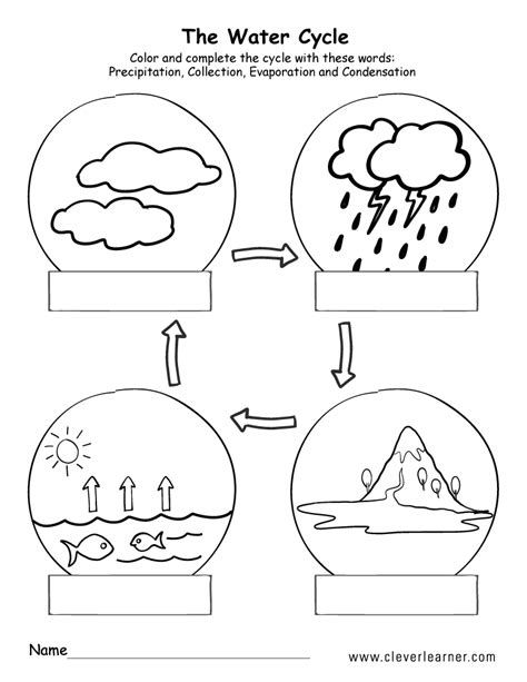 The Water Cycle Lesson Plan With Hand Drawn Printables