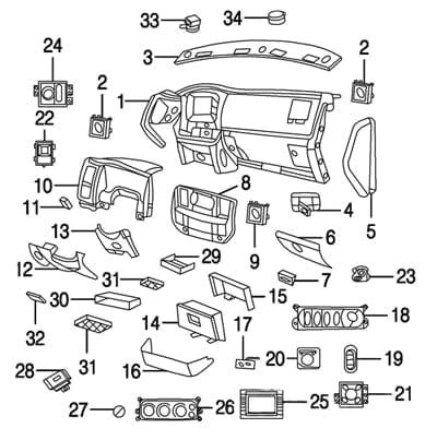 Dodge Ram Oem Parts Diagram Dodge Ram Ford F150 Interior Dodge
