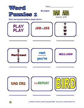Word Puzzles (Frame Games) - 90 Lateral Thinking Puzzles ...