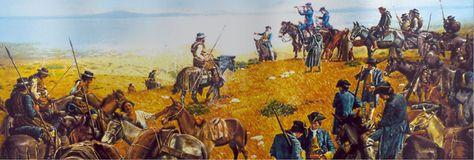 Don José Gaspar de Portolá  Conquistador y explorador español. Siendo gobernador de la Baja California, en 1769 recibió órdenes de tomar posesión de la Alta California para impedir el avance británico y ruso. Acompañado de fray Junípero Serra, fundó San Diego (1769), exploró la bahía de Monterrey y descubrió la de San Francisco y fundó la misión de San Carlos de Monterrey