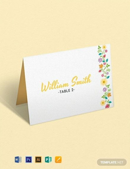 Place Card Template Word 6 Per Sheet Free Place Card Template Card Template Card Templates Free