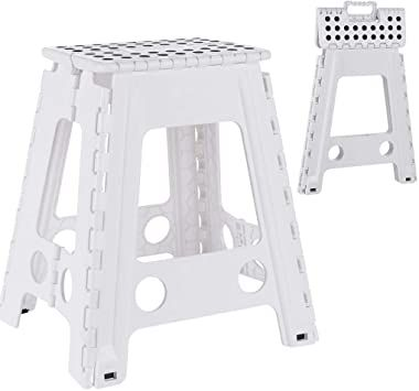 Mostbest Folding Step Stool With Handle Portable Collapsible Small Plastic Foot Stool For Kids And Elder Use In Indoor Outdoor