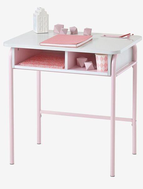 Bureau En Classe Gris Rose Gris Vert Vertbaudet Enfant Mobilier De Salon Bureau Gris Bureau Blanc