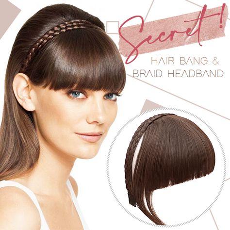 Secret Bang & Braid Headband - Ash Blonde