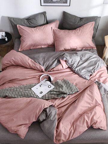 4pcs Ins Minimalist Lattice Bedding Sets Quilted Quilt Duvet Cover Sheet Pillowcases Queen King Size Simple Bedding Sets Duvet Cover Sets Bed Cover Sets