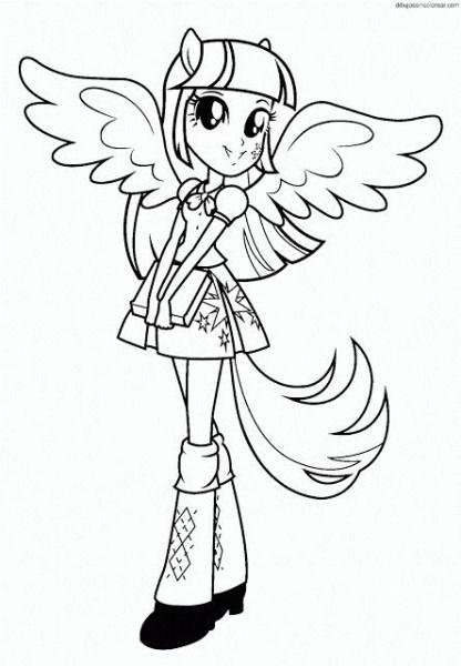 Twilight Sparkle Equestria Girls Dibujos Para Colorear De My Little Pony Humanas Colorear My Little Pony Equestria Girl Bocetos Bonitos My