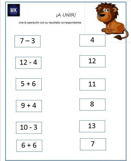 ᐅ Fichas Didacticas Para Preescolar De Suma Y Resta Suma Y Resta Actividades De Resta Matematicas Primero De Primaria