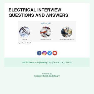 Electrical Interview Electrical Interview Questions Interview Questions And Answers Interview Questions