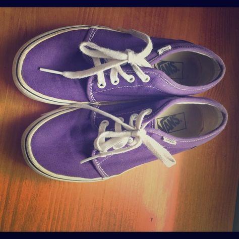 """Purple Vans Purple Vans lightly worn, """"off the wall"""" Vans Shoes Sneakers"""