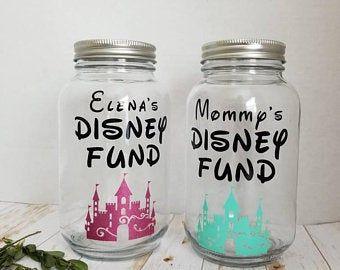 Disney Fund Mason Jar Etsy In 2020 Mason Jars Mason Jar Crafts Diy Vacation Savings Jar