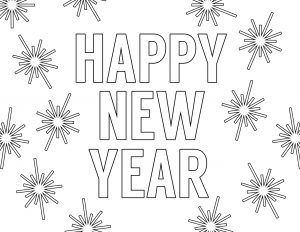 Happy New Year Coloring Pages Free Printable Paper Trail Design New Year Coloring Pages Happy New Year Download New Year S Eve Colors