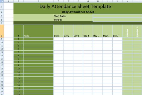 Daily Employee Attendance Sheet in Excel Template ExcelDox - daily attendance sheet template