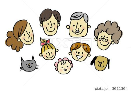 家族 イラスト 手描き Google 検索 イラスト 人物 イラスト お気に入り