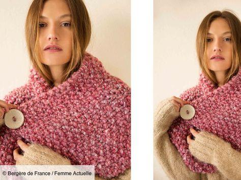 Femmes Double Face Super Doux Pull Through écharpe cou plus chaud avec perles