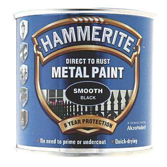 Hammerite Smooth Metal Paint Black 250ml Metal Paints Screwfix