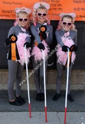 Homemade Three Blind Mice Girls Group Halloween Costume The girls came up with the idea  sc 1 st  Pinterest & 17 Best images about Mother Goose Parade on Pinterest | Halloween ...