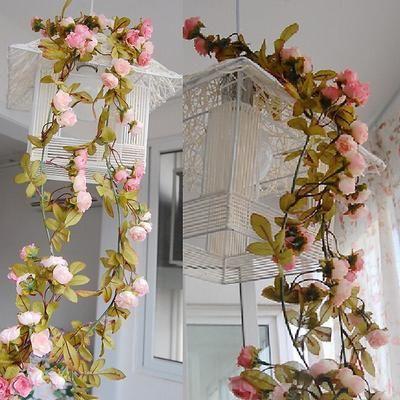 Artificial Silk Rose Fake Flower Garland Wedding Arch Backdrop Home Party Decor