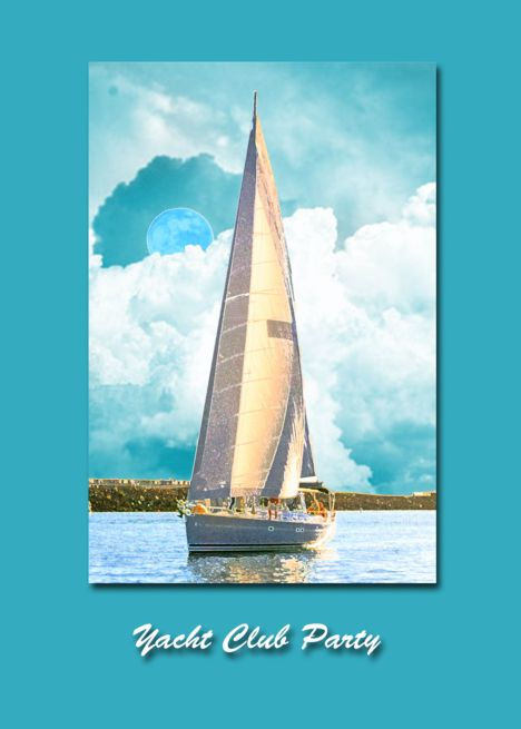 Yacht Club Party Invitation Card Ad Affiliate Club Yacht Party Card