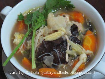 Resep Sup Kimlo Jtt Resep Sup Resep Masakan Masakan