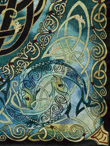 Fine Art Heirloom Tapestry - Keltic Mandala - Celtic Artwork by Jen Delyth