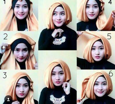 Tutorial Jilbab Akad Nikah Sederhana Kerudung Hijab Gaya Hijab