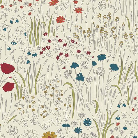 Alpine Garden Wallpaper - Multi