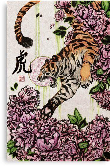 Lienzo ''Tigre' de kiriska