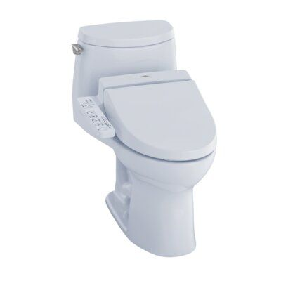 Toto Ultramax Ii 1 0 Gpf Elongated One Piece Toilet With C100 Electronic Bidet Seat Washlet Clean Toilet Bowl Toilet