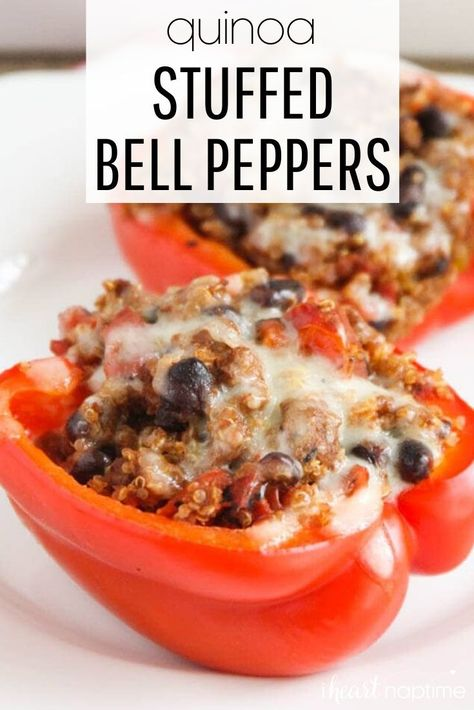 Quinoa Stuffed Peppers Recipe Stuffed Peppers Diner Recipes Food Recipes