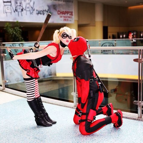 This is too freaking cute….Harley and Deadpool 😀 This is too freaking cute….Harley and Deadpool 😀