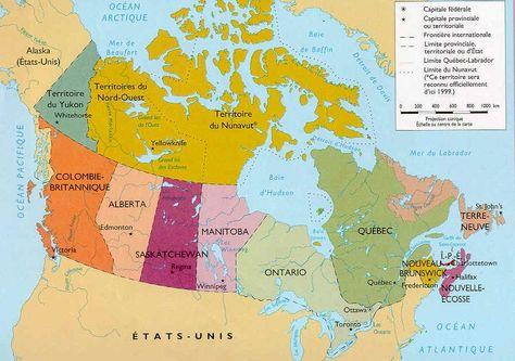 Carte Canada Uni.Carte Du Canada Fsl Alaska Map Canada