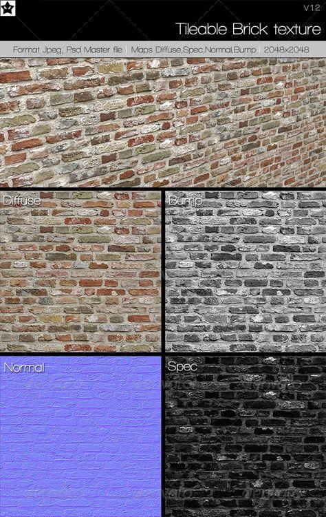 Tileable Brick texture 1 by HollowIchigoBanki