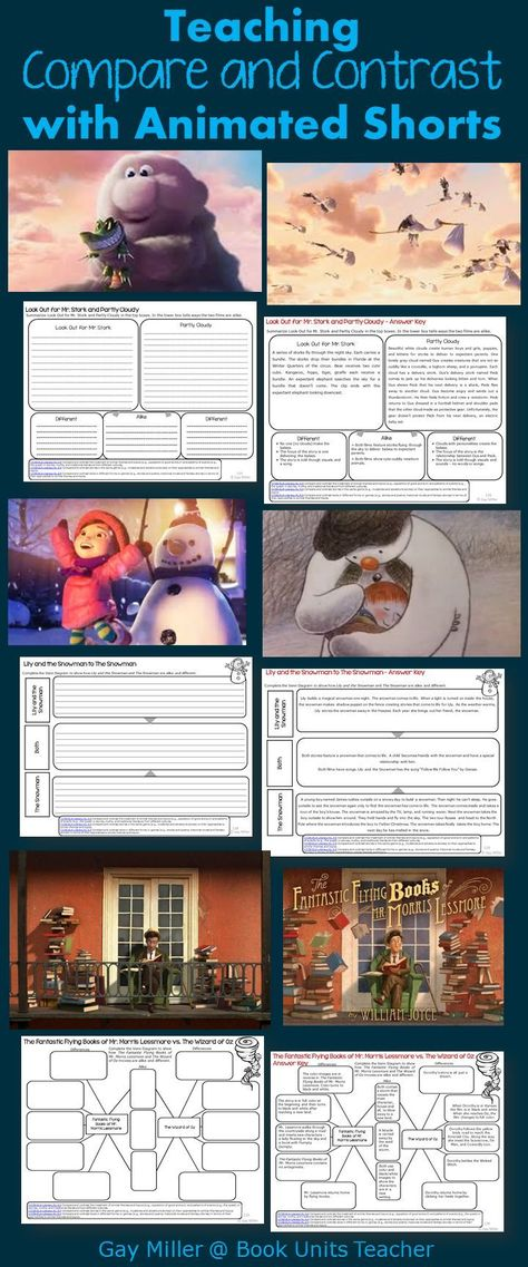 If you are looking to add a high interest activity to your lessons, try using animated shorts. These printables help students compare and contrast. Reading Lessons, Reading Strategies, Reading Activities, Reading Skills, Writing Skills, Reading Comprehension, Guided Reading, Close Reading, Comprehension Strategies