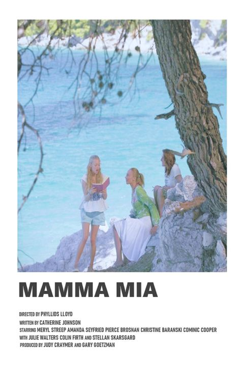 Mamma Mia minimal A6 movie poster
