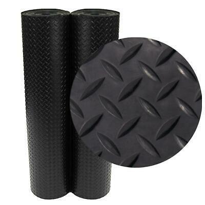 Diamond Plate Garage Floor Roll 4 Ft X 10 Ft Black Rubber Flooring 40 Sq Ft Ebay In 2020 Rubber Flooring Rolled Rubber Flooring Diamond Plate
