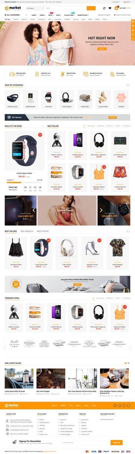 HOME PAGE #2 - EMARKET ALL-IN-ONE OPENCART THEME
