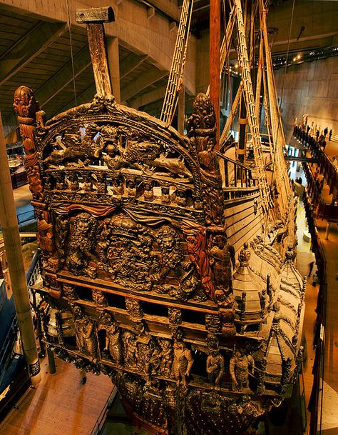 stern of The Vasa in Stockholm.  Incredible.
