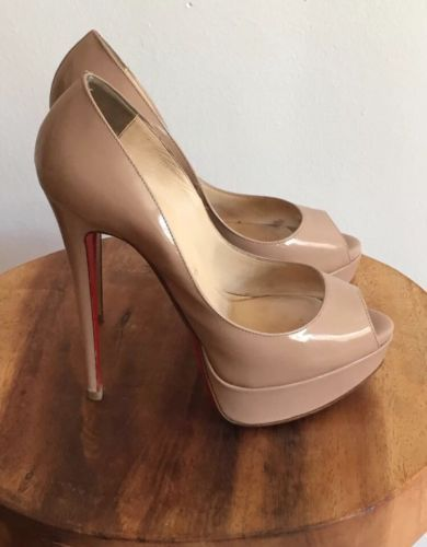 reputable site a5a1b a90b3 Christian Louboutin lady peep 150mm nude | Designer Heels ...