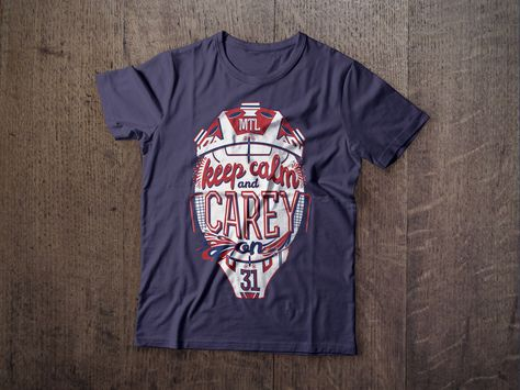 KEEP CALM Hockey Montreal Tshirt available at NorthLegends.ca #hockey #canadiens