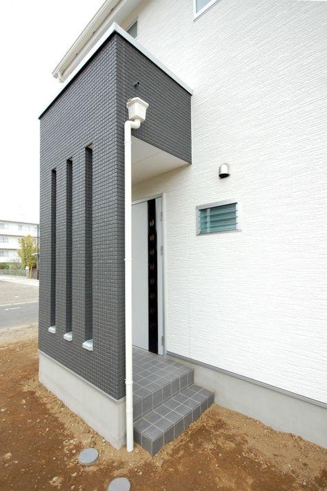 こだわりのおしゃれな外観 エクステリア 工藤工務店の施工写真集 玄関 目隠し おしゃれ 玄関 玄関 レイアウト