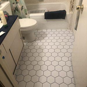 Alba Vinyl Tile Sticker Pack In Chalk Grey Tile Decals Etsy In 2020 Tile Decals Floor Stickers Vinyl Wallpaper